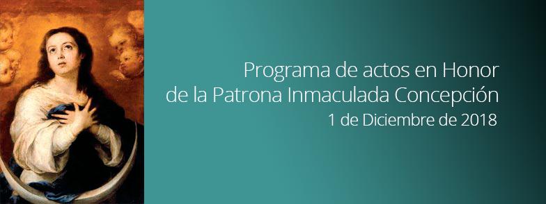 Actos en Honor de la Inmaculada Concepción